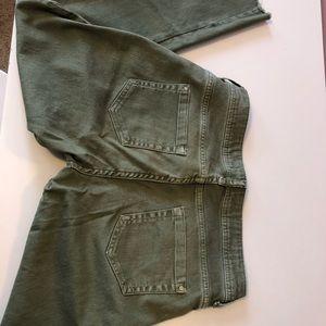 ZARA size 40 green jeans
